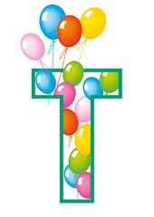 lettera T palloncini compleanno