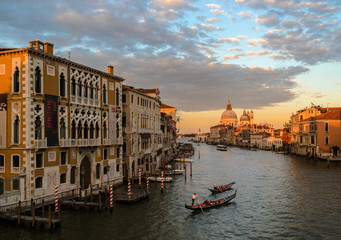 Grand canal in venice at sunset