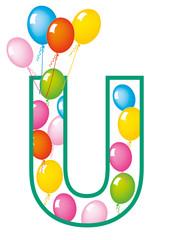 lettera U palloncini compleanno