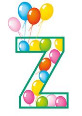 lettera Z palloncini compleanno