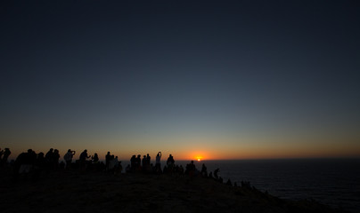 Sunset on the Atlantic Ocean in Portugal Cape St. Vincent