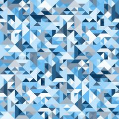 Decorative geometric shapes seamless pattern