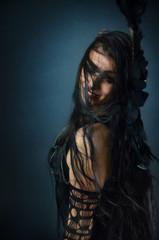 Dark Hair Gypsy Woman