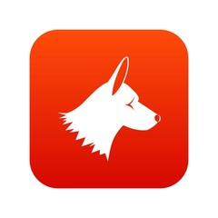 Collie dog icon digital red