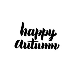 Happy Autumn Handwritten Calligraphy
