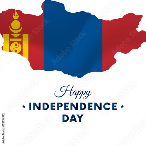 Mongolia Independence Day Mongolia Map Vector Illustration - Mongolia map vector