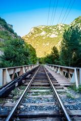 Le pont du chemin de fer de Villefranche de Conflent