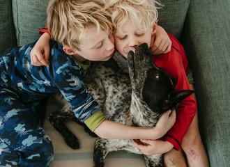 boys and their dog