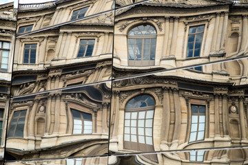 Building Refection at Louvre in Paris