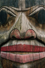 Native American totem pole in Alaska