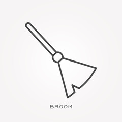 Line icon broom