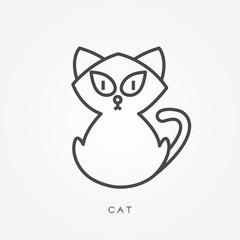 Line icon cat