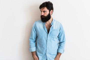 Handome man portrait indoors