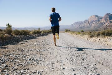 Man jogging in the desert