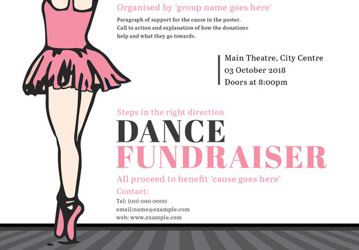 Dance Fundraiser Event Poster 1