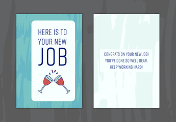 New Job Greeting Card Layout 9