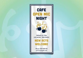 Café Open Mic Night Flyer Layout