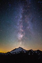 Milky Way galaxy over Mount Baker, Washington