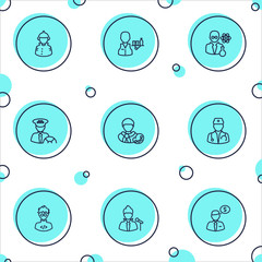 Set Of 9 Position Outline Icons Set.Collection Of Doctor, Singer, Taxi And Other Elements.