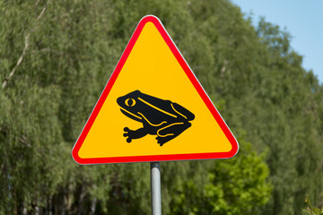 Frog warning sign