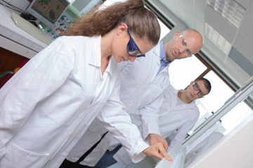 students in laboratory during chemistry class