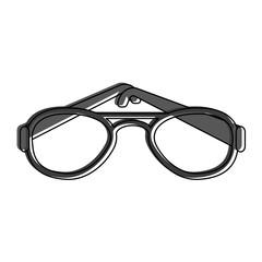 glasses eyewear icon image vector illustration design