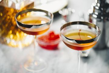 """Staghattan"" Cocktails"