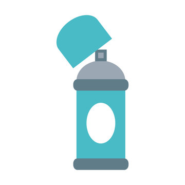 open aerosol can icon image vector illustration design