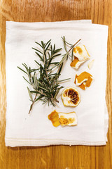 Dried thyme and lemons