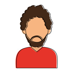 bearded man avatar icon image vector illustration design