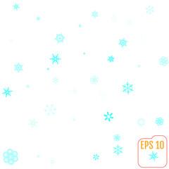 Blue snowflake pattern. Vector illustration