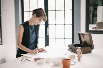 Woman Illustrating