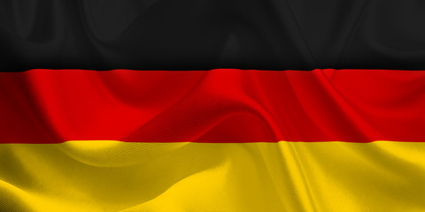 Waving flag of the Germany. German Flag in the Wind. German National mark. Waving Germany Flag. Germany Flag Flowing.