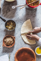 Cooking Moroccan food