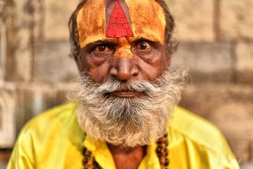 Portrait of a Holy Man in Kathmandu