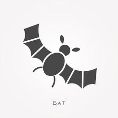Silhouette icon bat