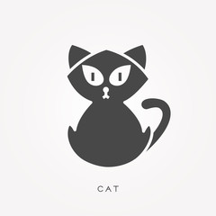 Silhouette icon cat