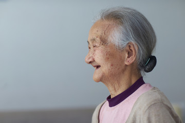 senior asian woman portrait