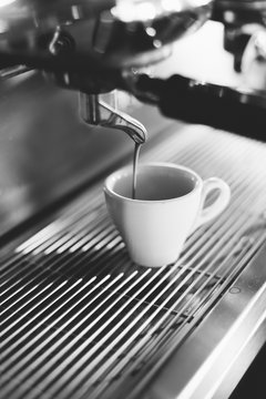 Espresso Coffee Machine Making Espresso Coffee