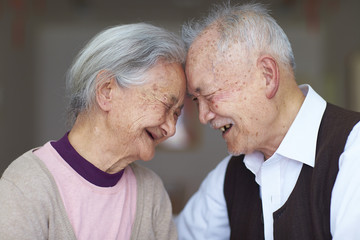 happy senior asian couple