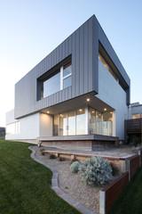 Exterior of modern design home