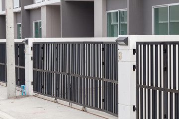 metal fence of the house