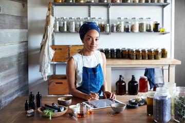 Millennial African American Woman Maker in Her Studio