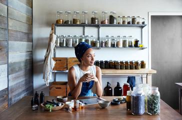 Portrait of Millennial African American Woman Maker in Her Studio