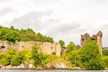 Loch Ness in gloomy weather, Scotland