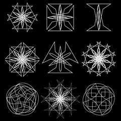 Cosmic geometry astrological star pattern symbols