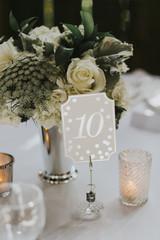 Barn Wedding Reception Table Number