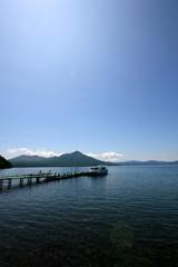 lake shikotsu in summer