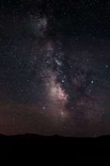 Milky Way on night starry sky