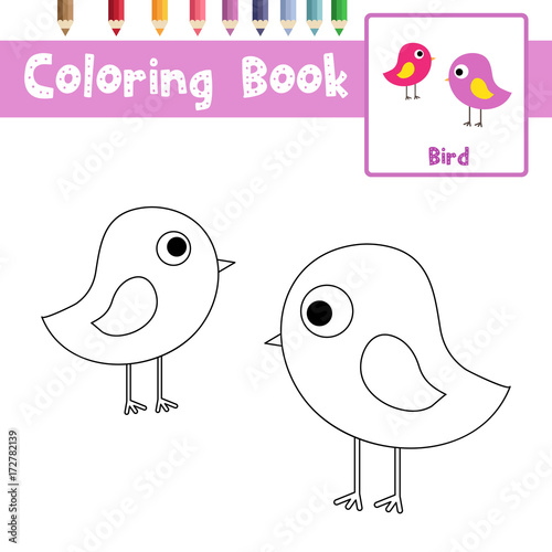 Lovely Coloring Page Of Avocet Standing In Water Animals For Preschool Kids ...